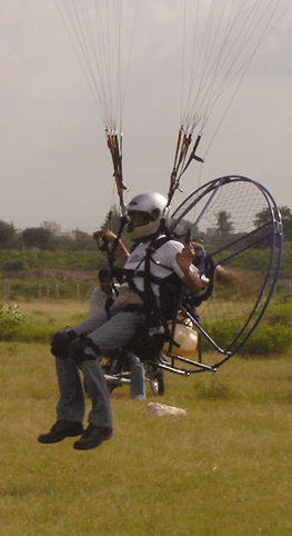 Paramotoring flight by Samson Dsilva Space Apple
